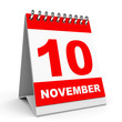 Calendar. 10 November.