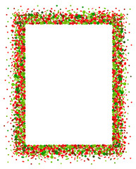 Confetti frame in red and green