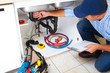Plumber on the kitchen. - 74802140