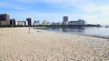 Panoramic View of Botafogo Beach in Rio de Janeiro, Brazi