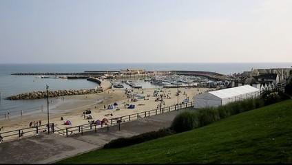 Lyme Regis harbour Dorset England UK Jurassic Coast