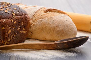 bread flour on the table