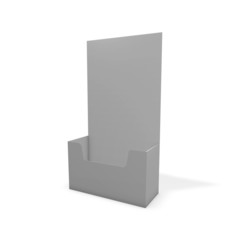 Leaflet display stand, empty copy space for marketing message