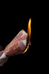 Burning rubles