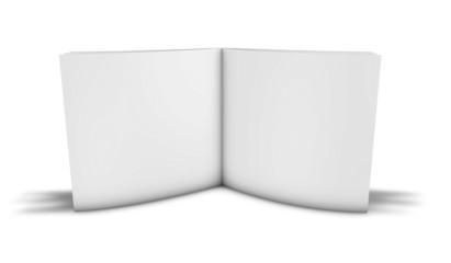 d blank photo book album standing on floor.
