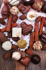 Sweet chocolates assorted