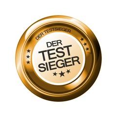 Der Testsieger - Button Gold