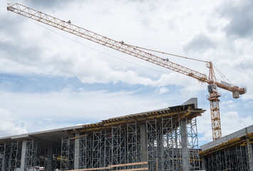 Building framework and tower crane