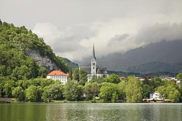 Lake Bled. Church of St. Martin. Slovenia