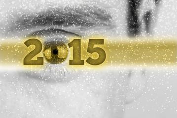 Creative 2015 New Year background