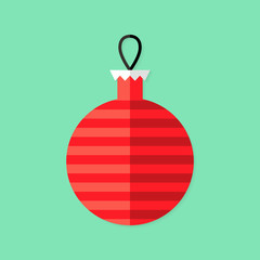 Christmas Decorative Ball Flat Icon