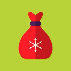 Christmas Bag Flat Icon