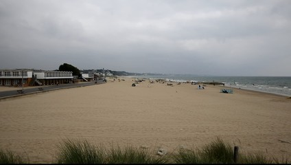 Sandbanks beach Dorset England UK