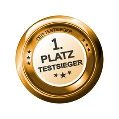 1.Platz Testsieger - Button Gold