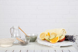 Fototapety Homemade facial masks with natural ingredients,