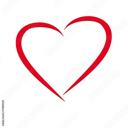 GamesAgeddon - rotes Valentins Herz auf weißem Hintergrund ...