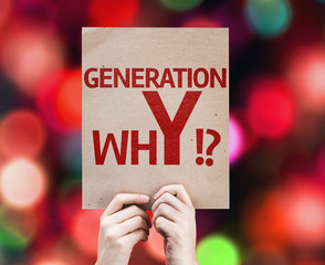 Generation whY !? card with colorful background