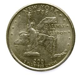 New York quarter 2001
