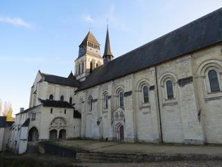 Maine-et-Loire - Abbatiale de Fontevraud - Façade Nord