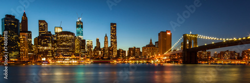 City on the water Manhattan Skyline by night