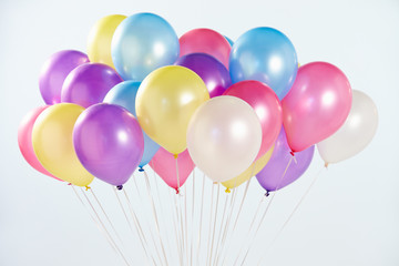 Bunch Of Colorful Balloons Shot In Studio