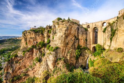 Ronda, Spain at Puento Nuevo Bridge - 74811595