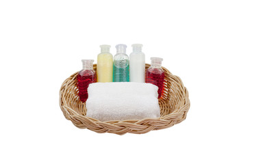 bath set on the basket