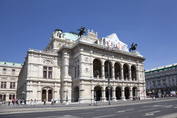 The Opera house in Vienna, Austria