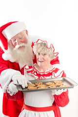 Santa steals a cookie