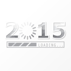 2015 on black Background