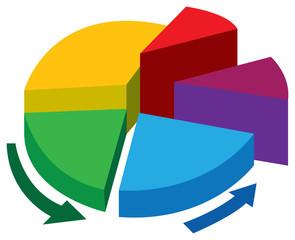 Business Pie chart Vector illustration