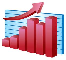Business Stock chart Vector Illustration