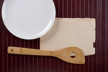 Wooden kitchen shovel