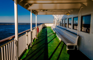 Aboard the Cape May -Lewes Ferry, in the Delaware Bay between Ne
