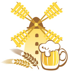 beer mug and windmill