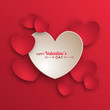 Valentine's day background with paper hearts - 74814781