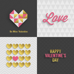 Set of Valentine's day greeting cards design