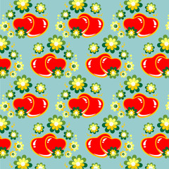 hearts and flowers background