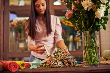 In floral shop