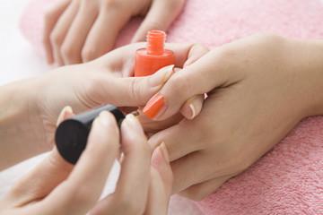 Coloring of a nail