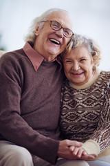 Joyful pensioners
