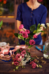 Showing bouquet