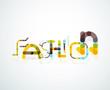 Fashion word font concept
