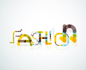 Fashion word font concept