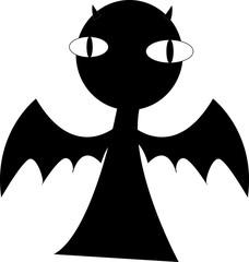 devil dark vector.it's seem fearful but cute!