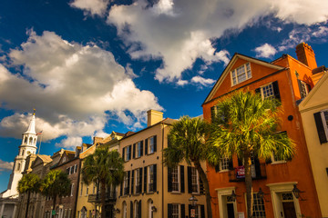 Colorful buildings on Broad Street in Charleston, South Carolina