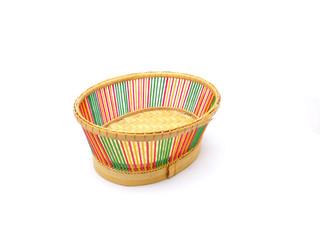 braiding small basket on white background