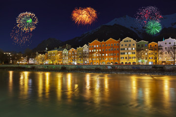 Fireworks in Innsbruck Austria