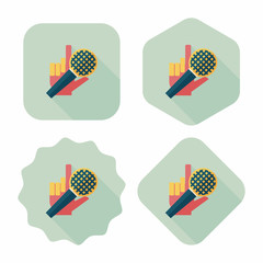 Microphone flat icon with long shadow,eps10