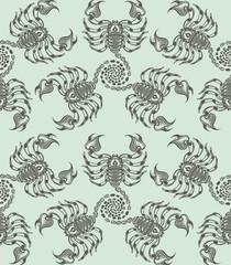 Repaint seamless pattern: ranks scorpions